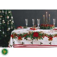 Скатерть этель рождественский бал, размер 110х150 см