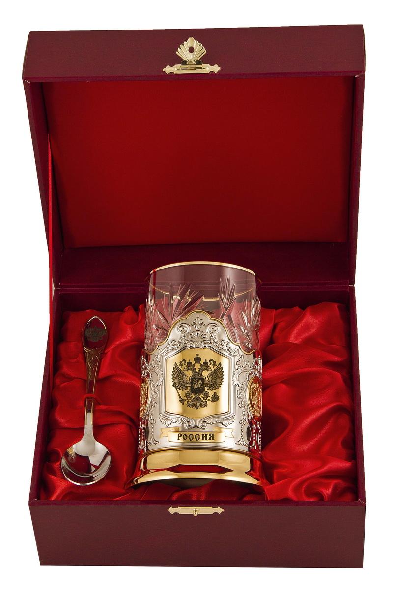 Набор для чая россия (3 пр.) арт. пд-115-герб