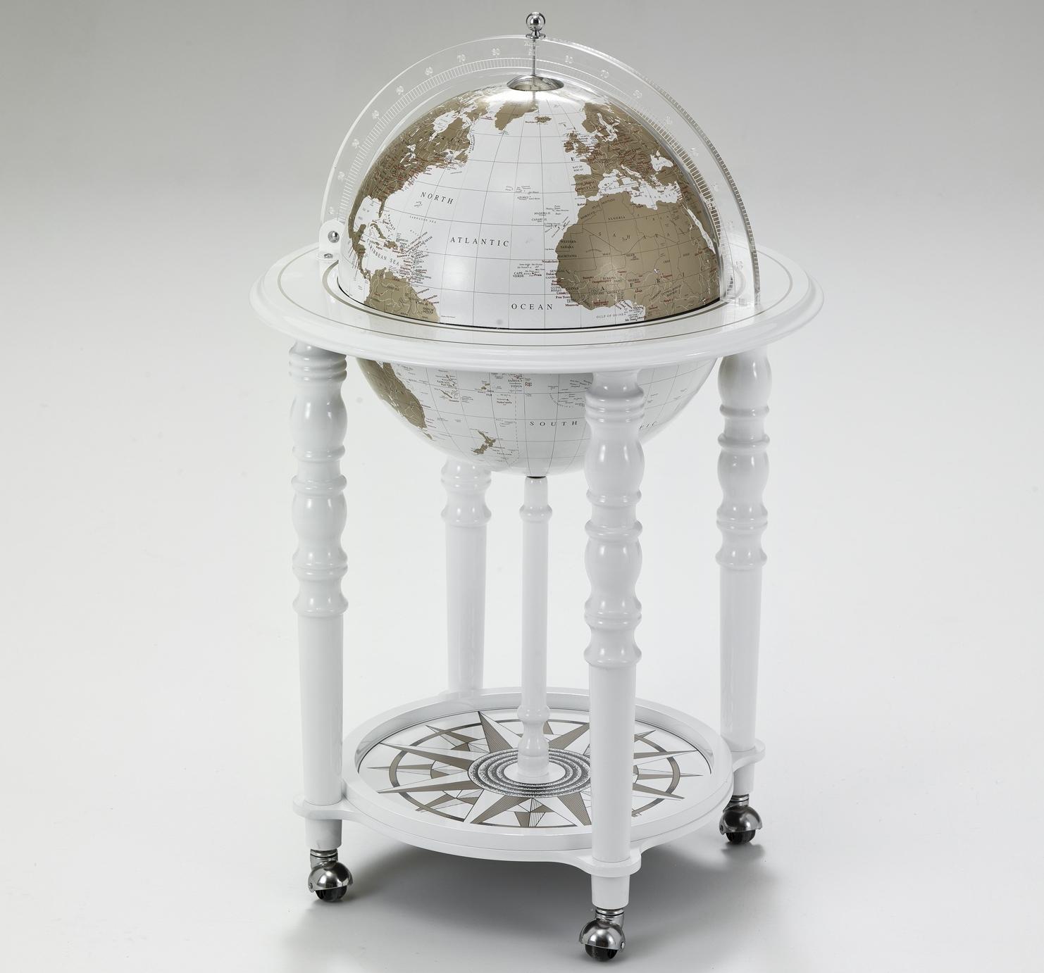 Глобус-бар напольный с современной картой мира