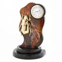 Часы жук камень яшма