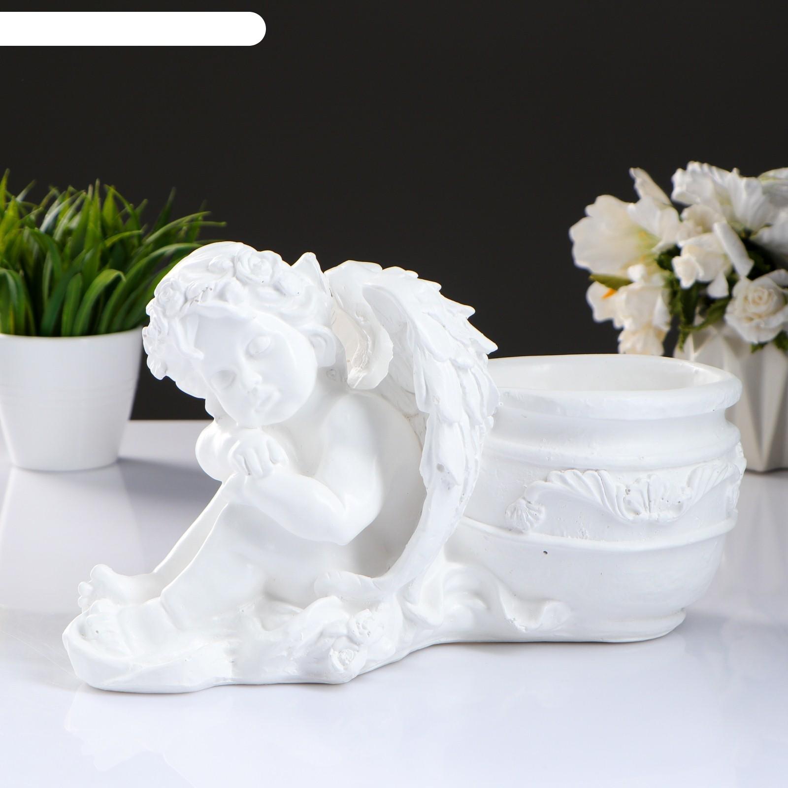 Кашпо спящий ангел белый (987018) купить в интернет ... Пила Ловушка Ангел