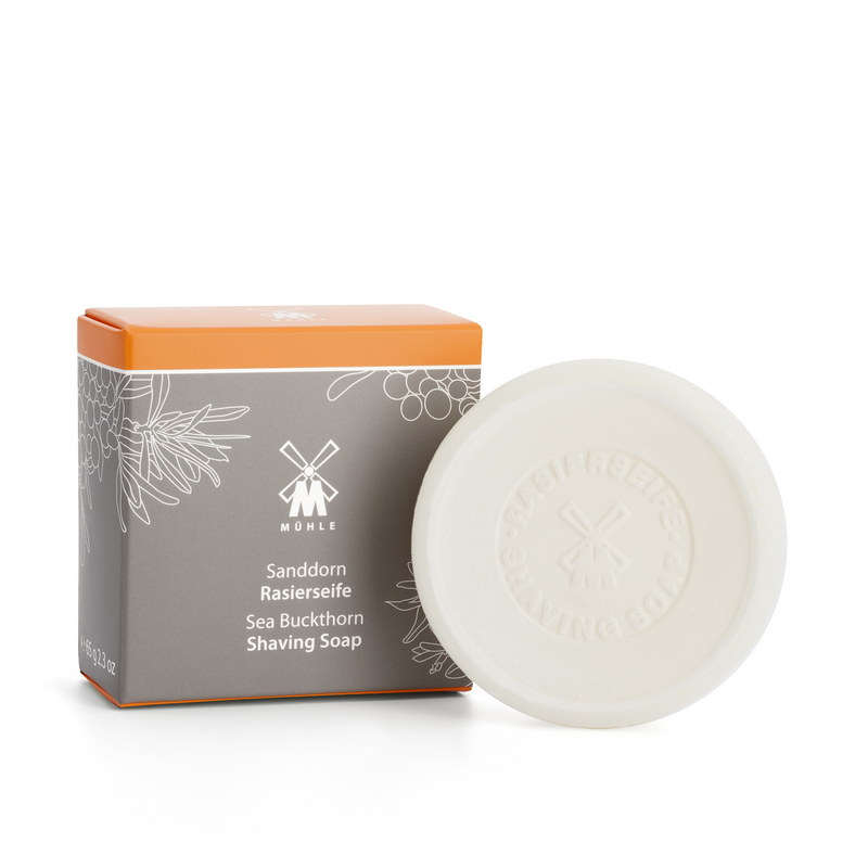 Твердое мыло для бритья Muehle  облепиха, 65 гр