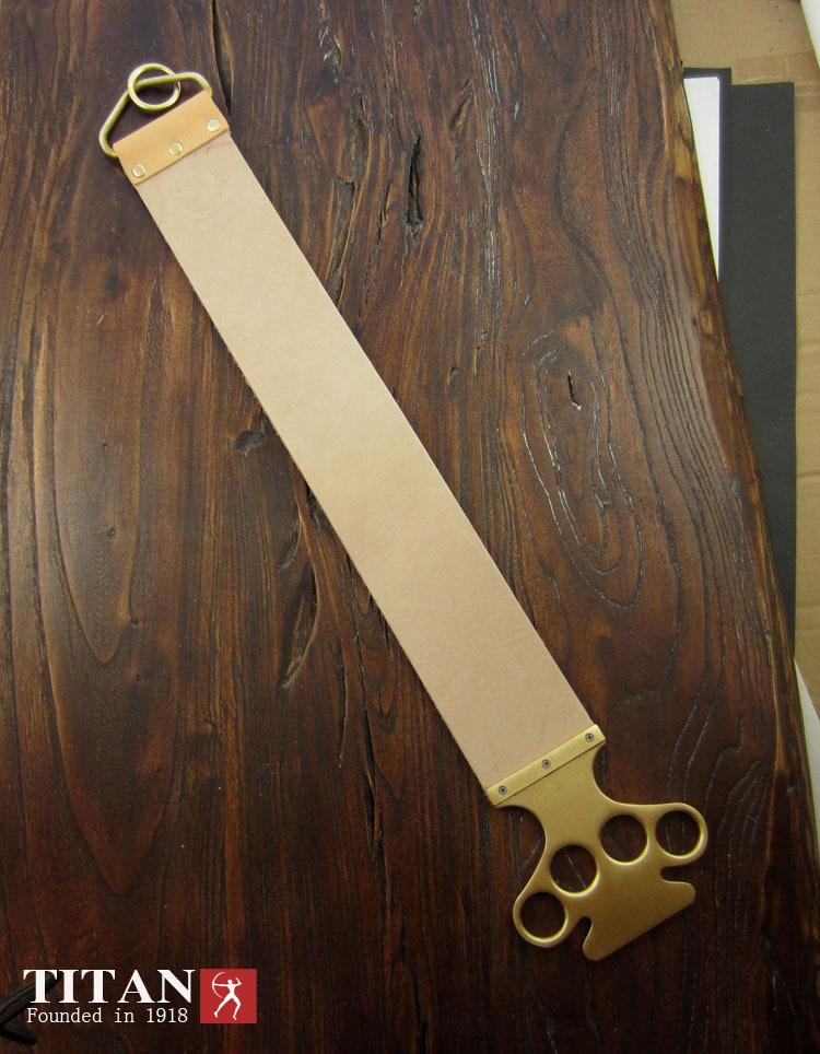 Ремень Titan для правки опасной бритвы Handmade