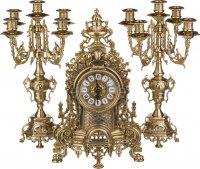 Комплект:часы каминные диаметр циферблата=11 см. + 2 подсвечника высота=42