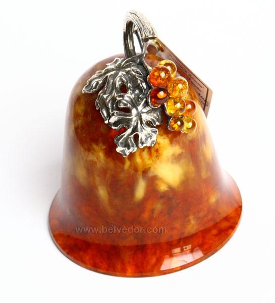 Колокольчик сувенирный из янтаря