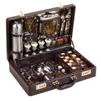 Набор для пикника в чемодане «игрок» (4 персоны)