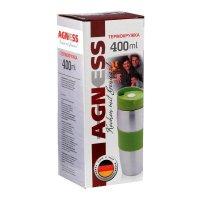 Термокружка Agness 400 мл с кнопкой-стопером (кор=30шт.)