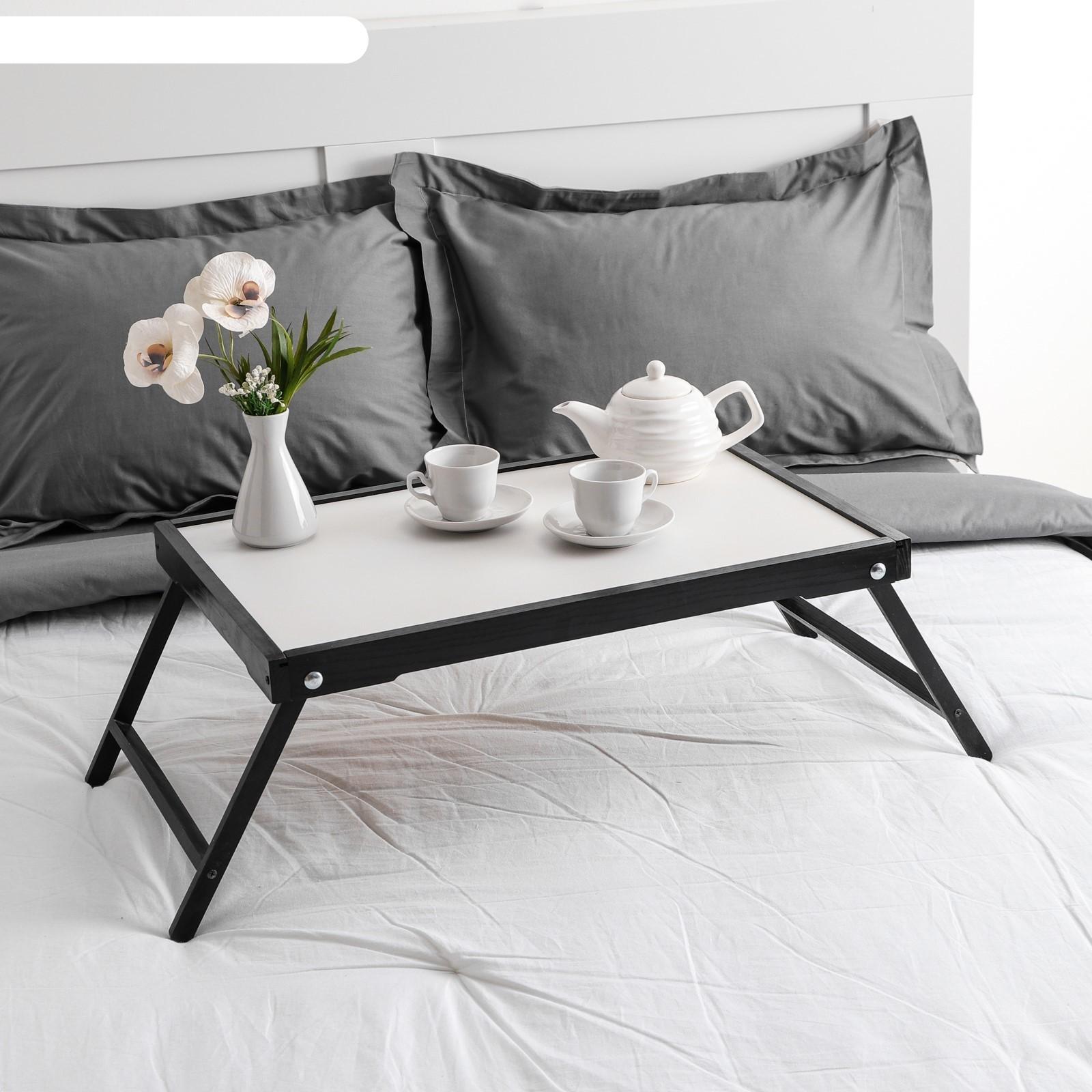 Столик для завтрака ренессанс, цвет черный, массив ясеня, 60х40 см