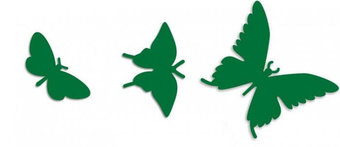 Дополнительные порхающие бабочки зеленые 3 шт.