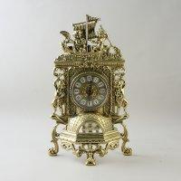 Часы каминные из бронзы корабль, (плоские)