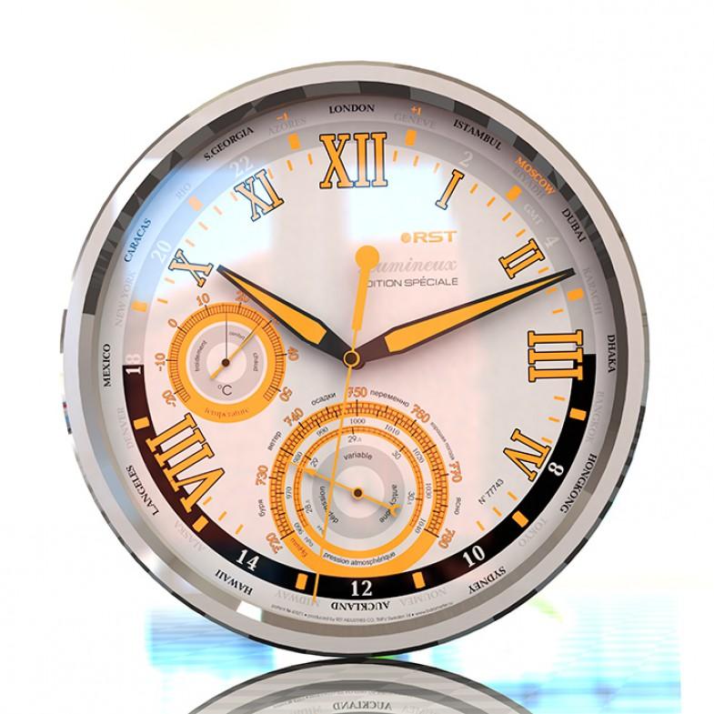 Настенные часы - метеостанция Rst Lumineux 77743