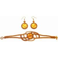 Серьги - украшение из янтаря