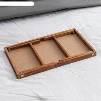 Столик для завтрака ренессанс, 50х30 см, массив ясеня, цвет итальянский ор