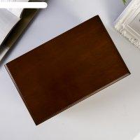 Шкатулка дерево комод с 2-мя ящиками коричневая 12,5х14х21,5 см