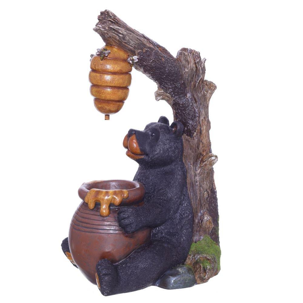 Фонтан декоративный медведь, L41 W30 H67,5 см