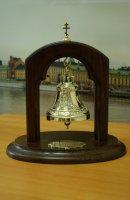 Колокольчик на подставке лик николая Ii и животворящий крест