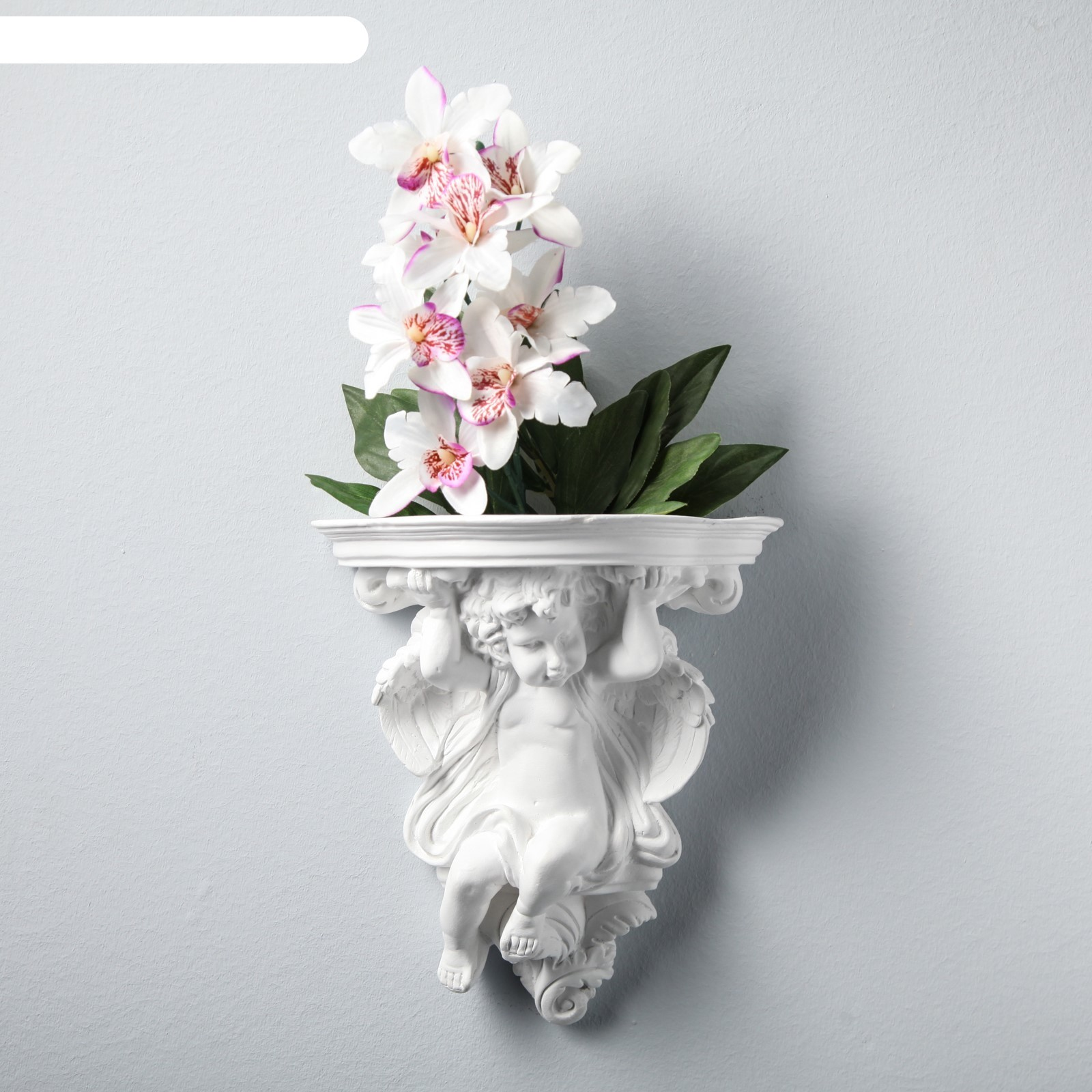 Декоративное кашпо ангел, 23 х 21 см, белый (3556560 ... Пила Ловушка Ангел