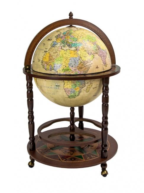 88.Rbg глобус-бар с картой на русском языке, сфера 50 см