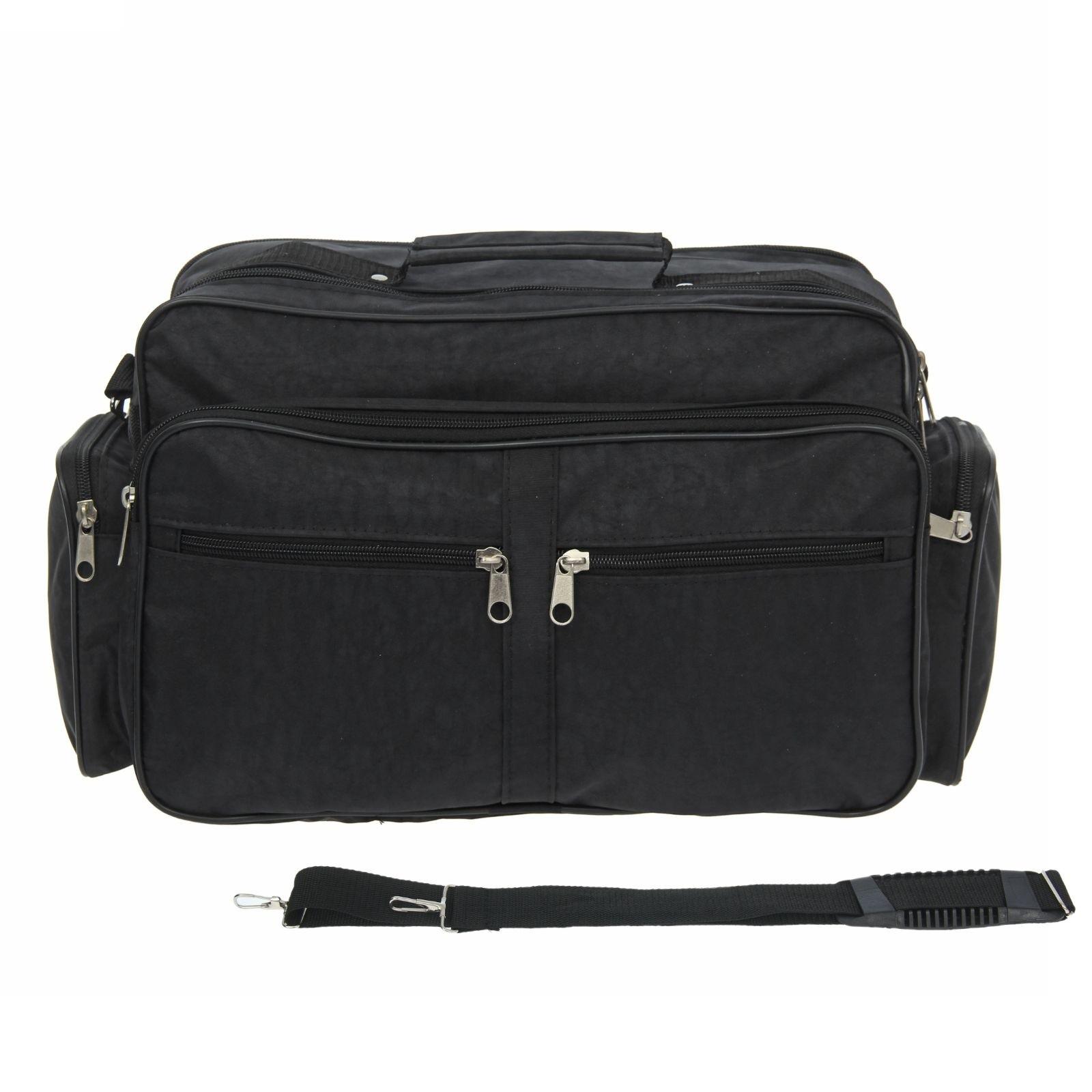 Анонс-изображение товара сумка муж 023  28*17*35 см, 1 отдел на молнии, нар карман, длинный ремень, черный 1355373