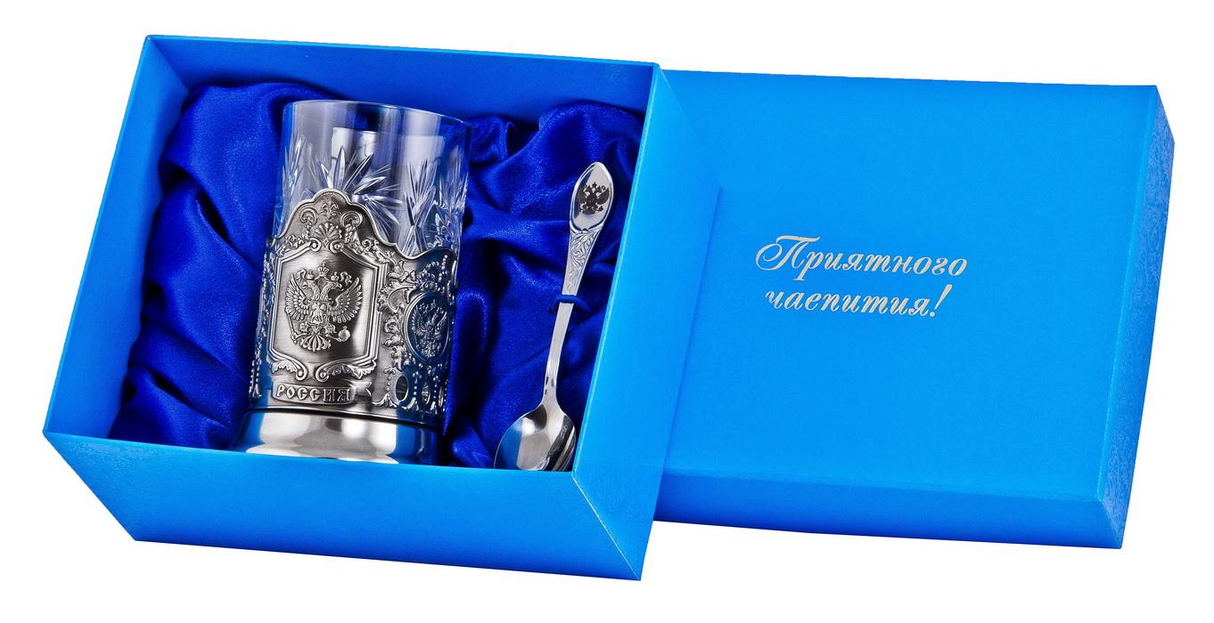 Набор для чая герб (3 пр.) арт. пд-89у