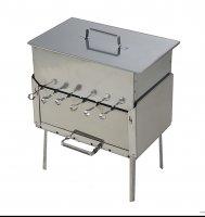 Мангал + коптильня набор для пикника кедр (сталь)