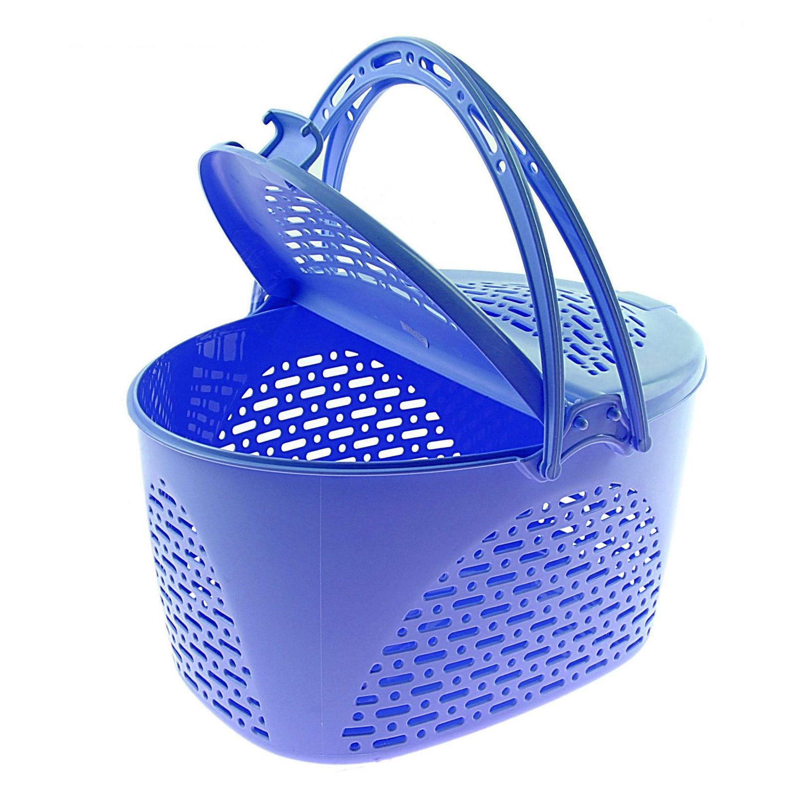 Корзина для пикника, голубая