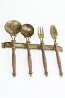 Аксессуары для кухни на подставке (половник, шумовка, ложка, вилка) 36х36
